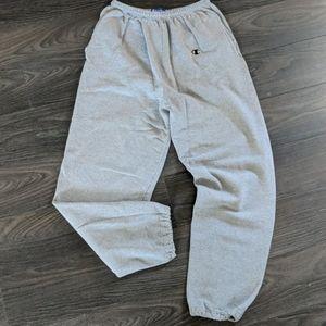 Champion Sweatpants Joggers  Large Gray Pockets